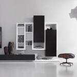 белые дизайнерские модульные шкафы