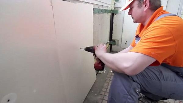 Как наклеить гипсокартоном на стены своими руками фото 804