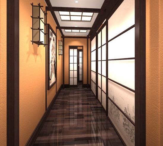примеры как расширить узкий коридор при помощи зеркала