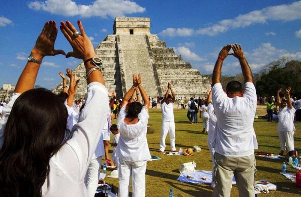 мексика встречают утро дня равноденствия