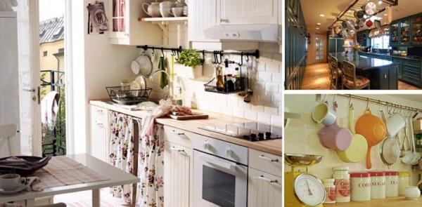 Подвесные конструкции рейлинги для кухни