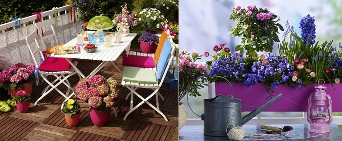 цветы на балконе 2015 фото как украсить балкон примеры