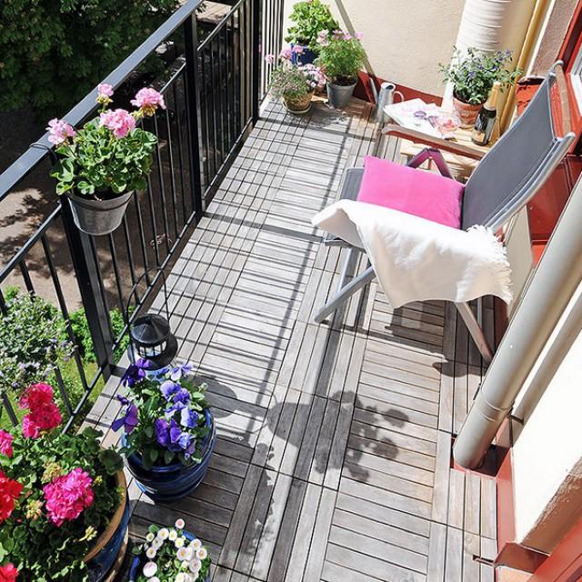 Как украсить балкон фото