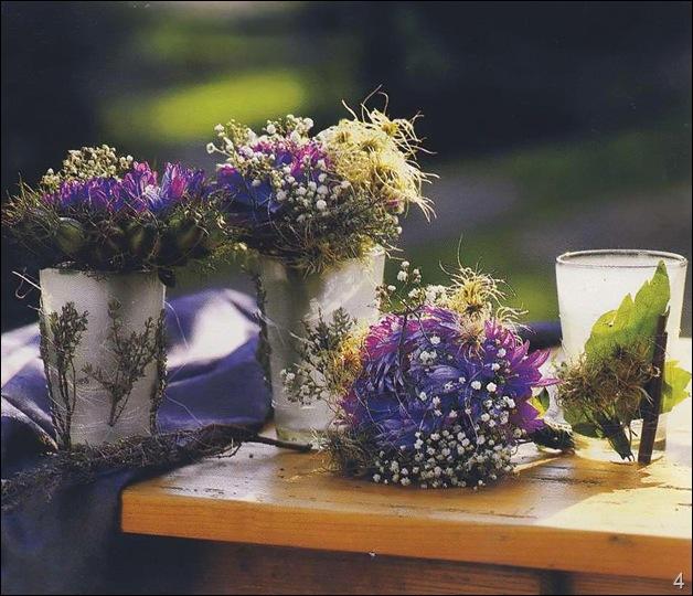 ваза с сухоцветами домашняя поделка